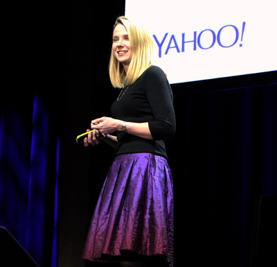 Yahoo CEO Marissa Meyer, urging mobile app developers to use Flurry.
